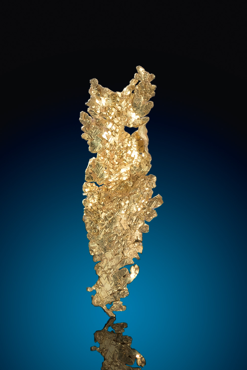 Elongated Sharp Leaf Gold Crystal - Round Maountain